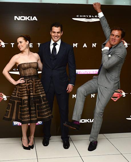 Amy Adams, Henry Cavill and Michael Shannon