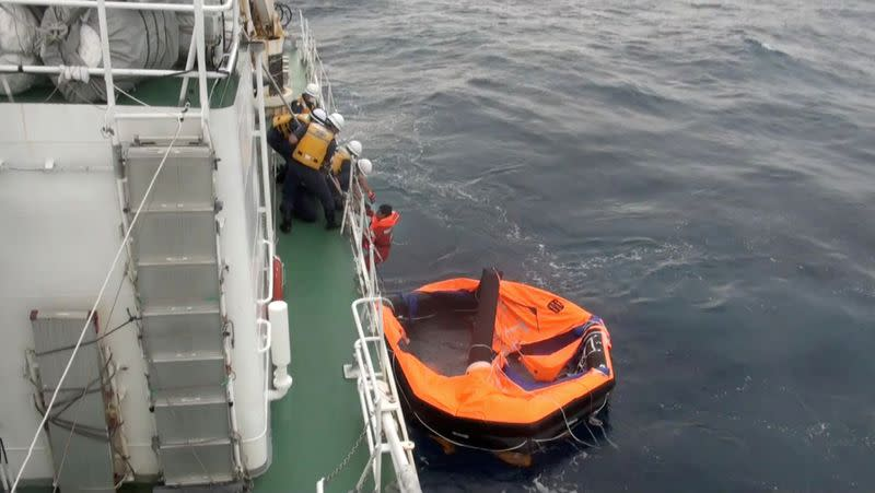 Japan coastguard suspends search for crew from capsized cattle ship due to bad weather