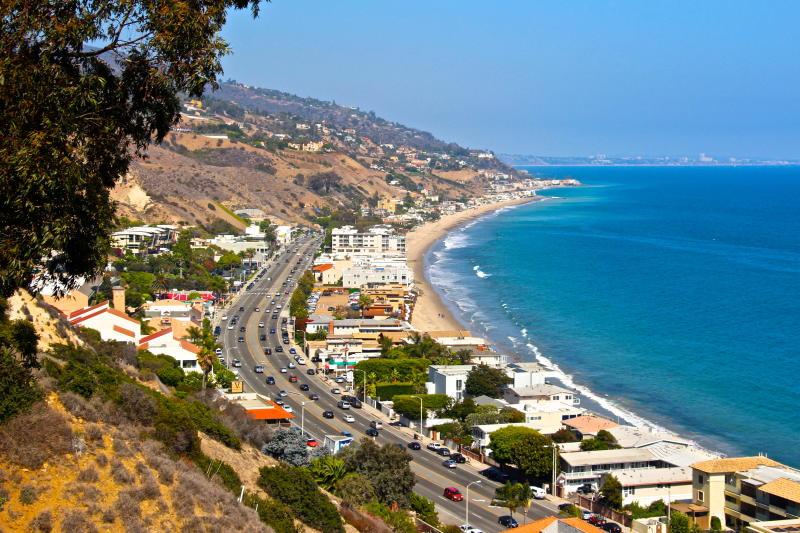 Pacific Coast Highway from Malibu, California.