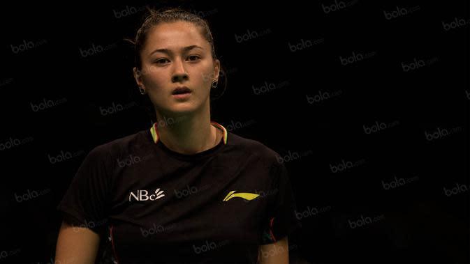 Gronya Somerville, pebulutangkis asal Australia ini turun di nomor ganda putri dan ganda campuran pada BCA Indonesia Open 2016. Langkah wanita 21 tahun itu terhenti di babak 16 besar. (Bola.com/Vitalis Yogi Trisna)