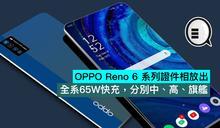 OPPO Reno 6 系列證件相放出,全系65W快充,分別中、高、旗艦