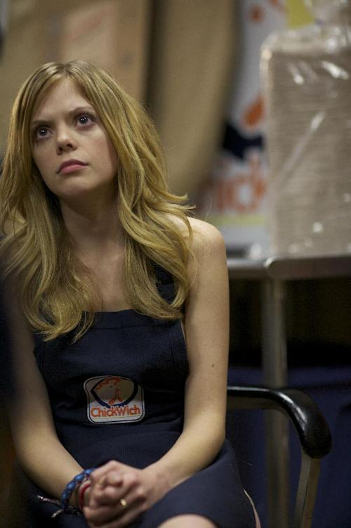 "FILE - This undated publicity file photo released by Magnolia Pictures shows Dreama Walker in a scene from the film, ""Compliance,"" a Magnolia Pictures release. (AP Photo/Courtesy Magnolia Pictures, File)"