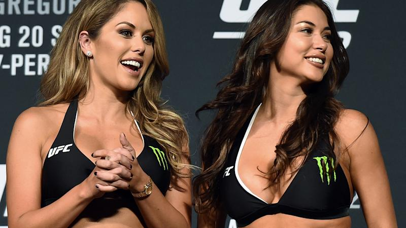 The UFC's use of ring girls has been labelled 'sexist' and 'outdated' by Melbourne's Lord Mayor ahead of UFC 243, prompting an angry response from Dana White. (Photo by Ethan Miller/Getty Images)