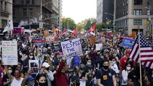 美國大選直播|拜登當選美國第46任總統 民眾街上慶祝