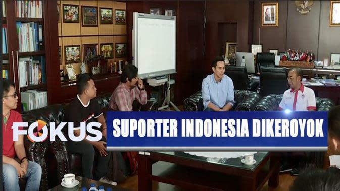 Suporter Indonesia yang Dikeroyok di Stadion Malaysia Temui Sesmenpora