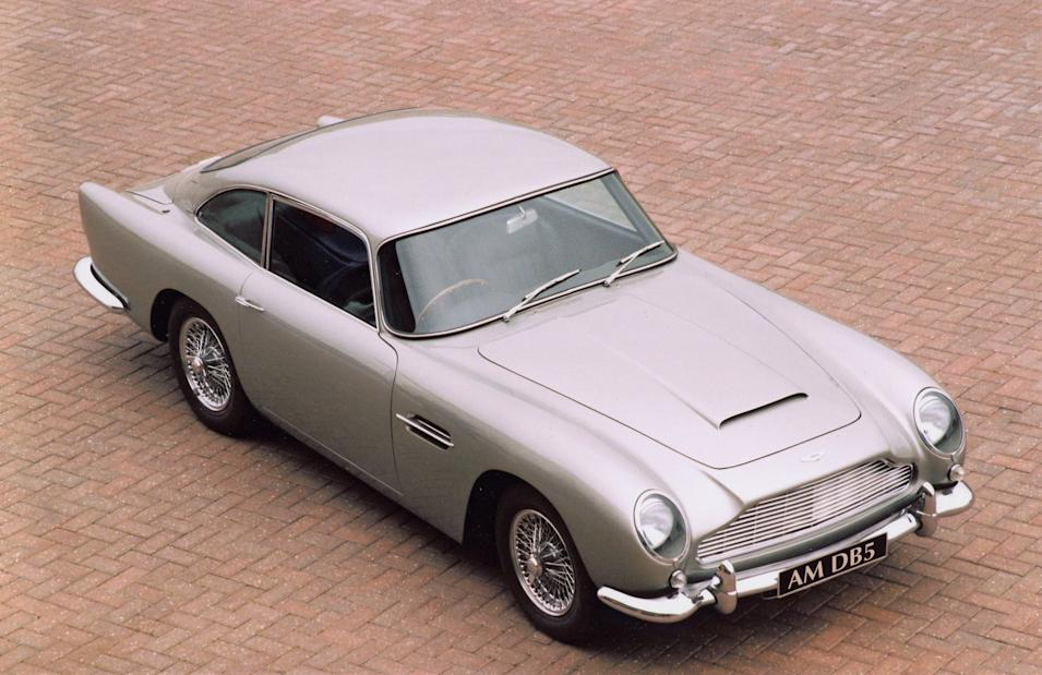 16.DB5 (1963-1965) – The DB5 was an evolution of the DB4. The main development included a new 4.0 litre engine and the option of a five speed gearbox. The car was originally featured in Goldfinger and most recently Skyfall as James Bond's preferred car. Only 1059 examples were produced (AMHT)