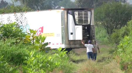 157 corpses found in Tlajomulco de Zuniga, Jalisco, Mexico container trailer after cemetery ran out of space.