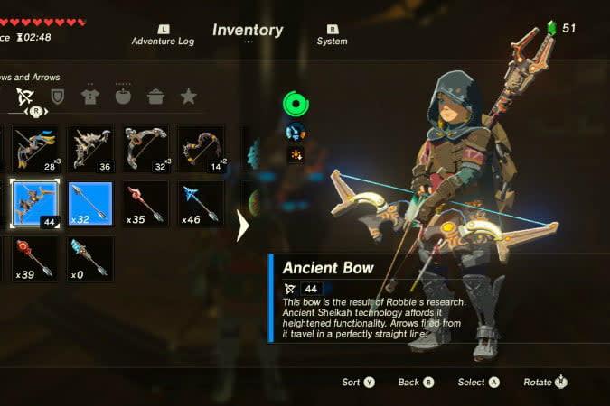 the legend of zelda breath wild best weapons bow