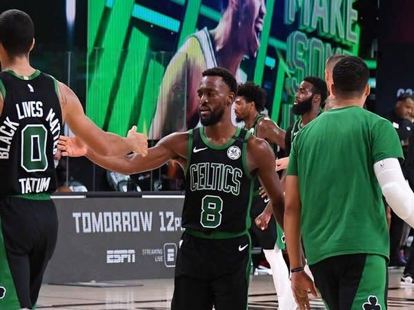 Boston Celtics defeat Miami Heat (Photo/ Boston Celtics Twitter)