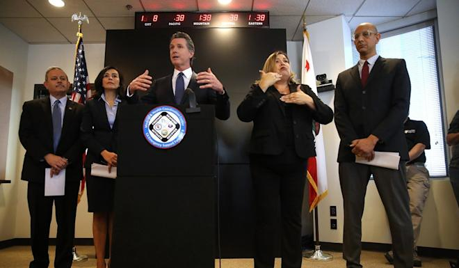 """Governor Gavin Newsom said """"we are not overreacting but nor are we underreacting"""". Photo: Getty Images"""
