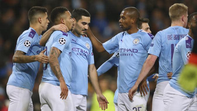 Manchester City terancam tidak bisa main di Liga Champions musim depan (AP Photo/Dave Thompson)