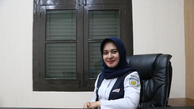 Juru Bicara PT Kereta Api Indonesia Daop 2 Bandung, Noxy Citrea (Liputan6.com/Jayadi Supriadin)