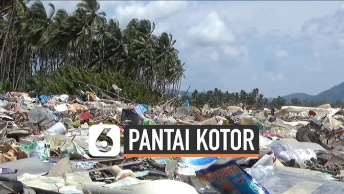 VIDEO: Pantai Maluku Tercemar Sampah Hingga 3 KM