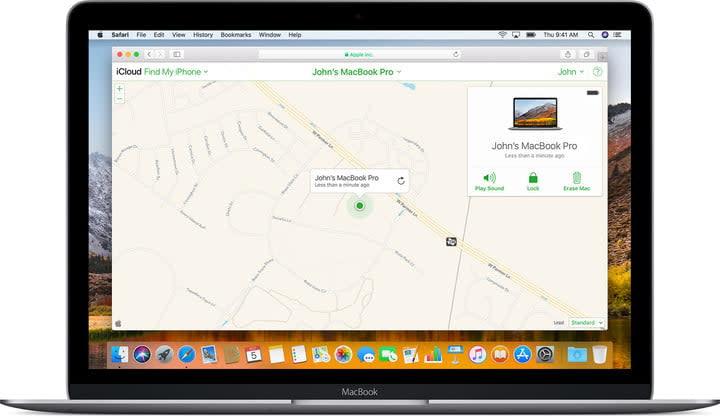 Locating MacBook