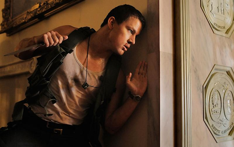 Channing Tatum Bruised His Behind in 'White House Down' Stunt