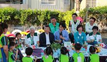 賴副總統與學童共進點心 耐心回應提問 (圖)