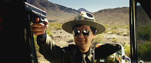 """This film publicity image released by Warner Bros. Pictures shows Ken Jeong as Mr. Chow in a scene from """"The Hangover Part III."""" (AP Photo/Warner Bros. Pictures)"""