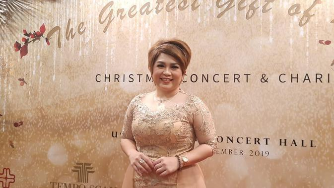 Joy Tobing menyanyi di Konser Para Gempita The Greatest Gift Of Love (Liputan6.com/ Hernowo Anggie)