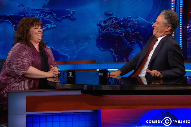 Jon Stewart and Melissa McCarthy Spent a Long Time Talking About Mr. Peanut on 'The Daily Show' (Video)