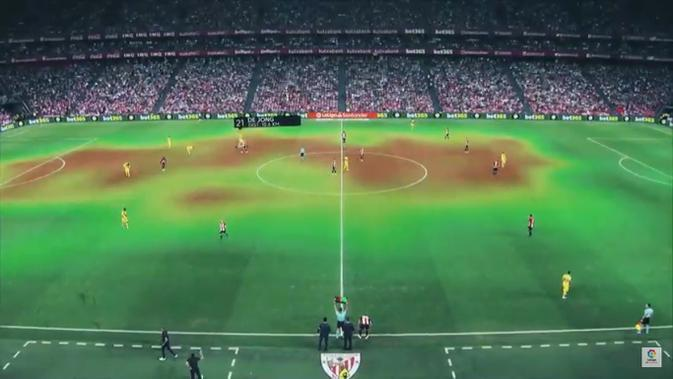 Inovasi teknologi dalam siaran La Liga. (YouTube)
