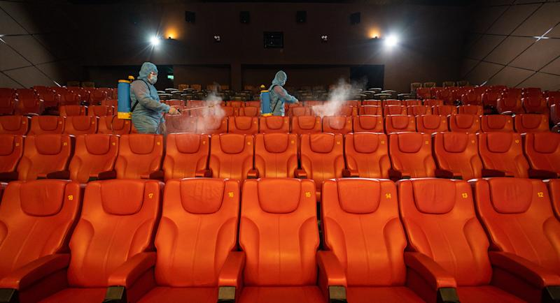GCS Cinemas have thoroughly disinfected all its theatres in preparation to welcome back movie-goers from tomorrow. —Picture courtesy of GSC Cinemas
