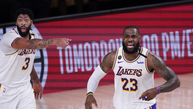LeBron James Memimpin Lakers Lolos ke Final Wilayah NBA (AP)