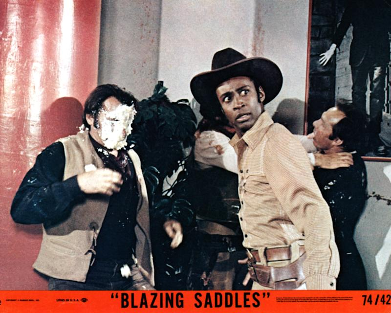 Blazing Saddles, lobbycard, right: Cleavon Little, 1974. (Photo by LMPC via Getty Images)