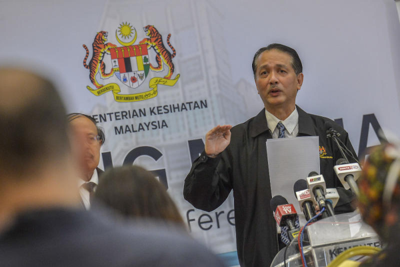 Health director-general Datuk Dr Noor Hisham Abdullah speaks during a press conference in Putrajaya March 30, 2020. — Picture by Shafwan Zaidon