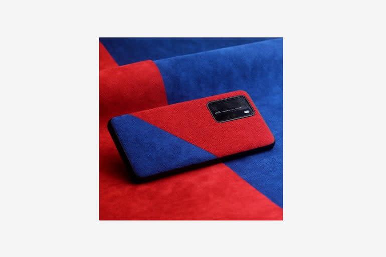Sunyc Luxury Protective Alcantara Case for Huawei P40 Pro Plus