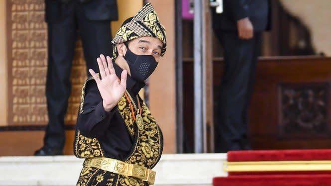 Viral, Pelajar SMP Bikin Lukisan Wajah Presiden Jokowi