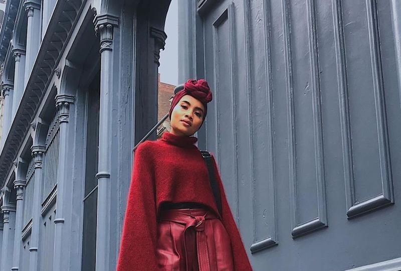 Head to toe in red, Yuna on her way to catch a fashion show by tennis star Serena Williams' namesake label. — Picture via Instagram/Yuna