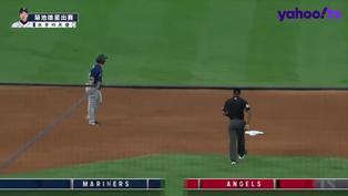 【MLB好球】開轟完秀美技 Mayfield擋下強勁滾地化解對手得分機會