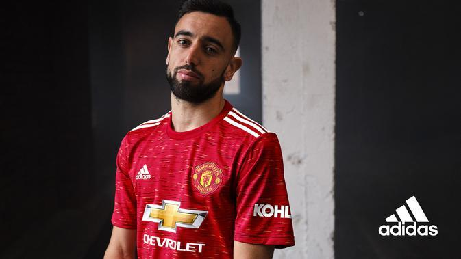 Jersey kandang Manchester United 2020/2021. (Twitter/Manchester United)
