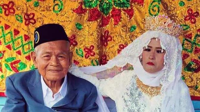 Viral Pernikahan Beda Generasi, Kakek Berusia 100 Tahun dengan Gadis Muda di Sulsel