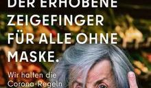 挑釁吸眼球! 「你不戴口罩 我比你中指」 柏林防疫廣告挨轟急下架
