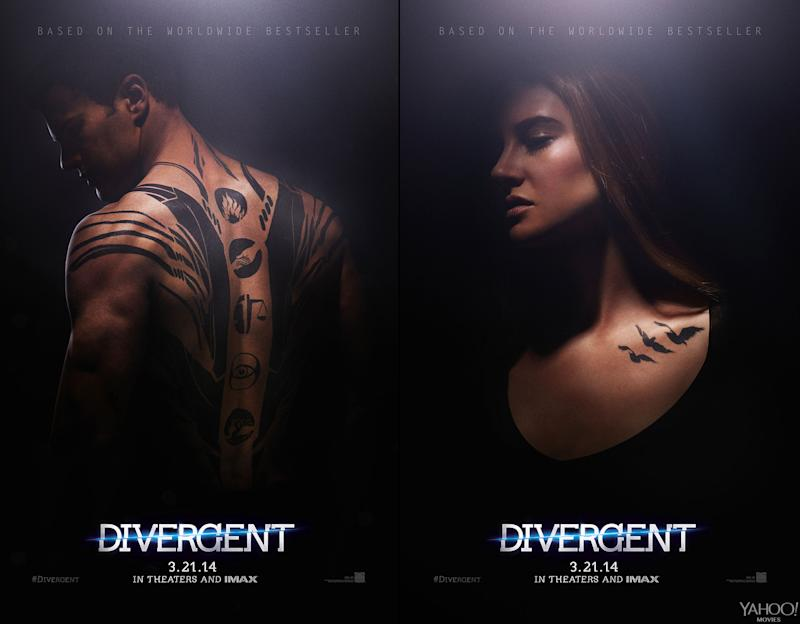 Exclusive 'Divergent' Posters: Shailene Woodley Has Tattoos?!