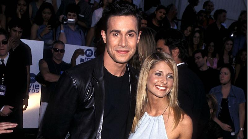 Sarah Michelle Gellar Rocks PJs With Husband Freddie Prinze Jr.'s Face All Over Them