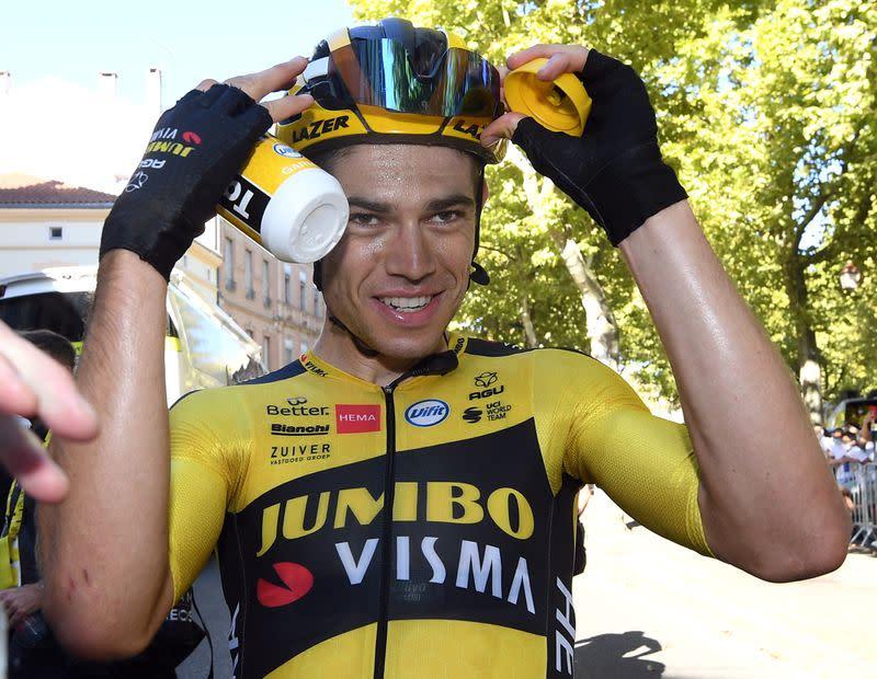 Leader turned domestique Van Aert still bossing the Tour