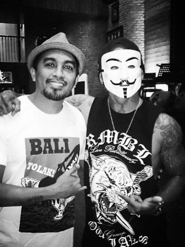Glenn Fredly dan Jerinx SID. (instagram.com/jrxsid)