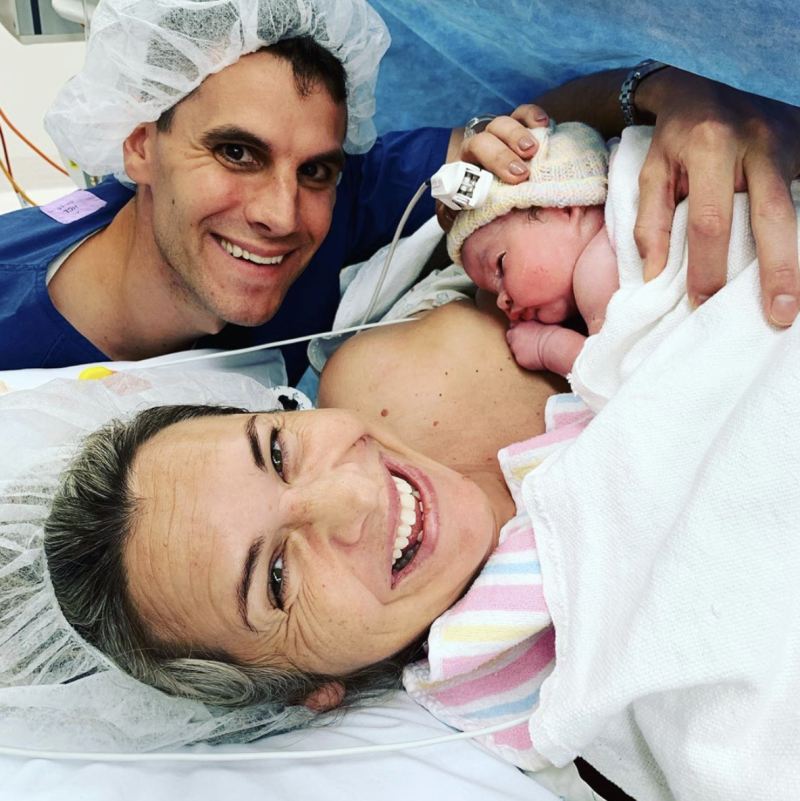 Olympian Libby Trickett was left in 'shock' after having a 'surprise' c-section to welcome her third daughter. Photo: Instagram/libby_trickett.