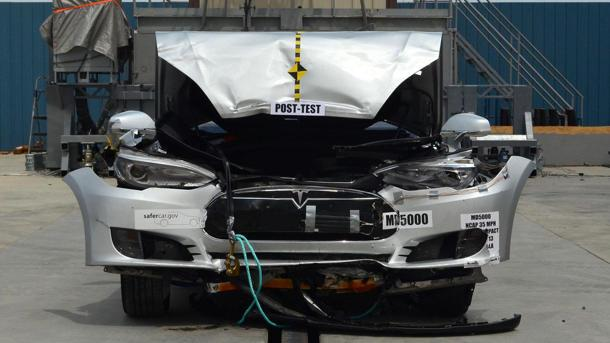 Tesla Model S scores highest marks ever seen in U.S. crash testing