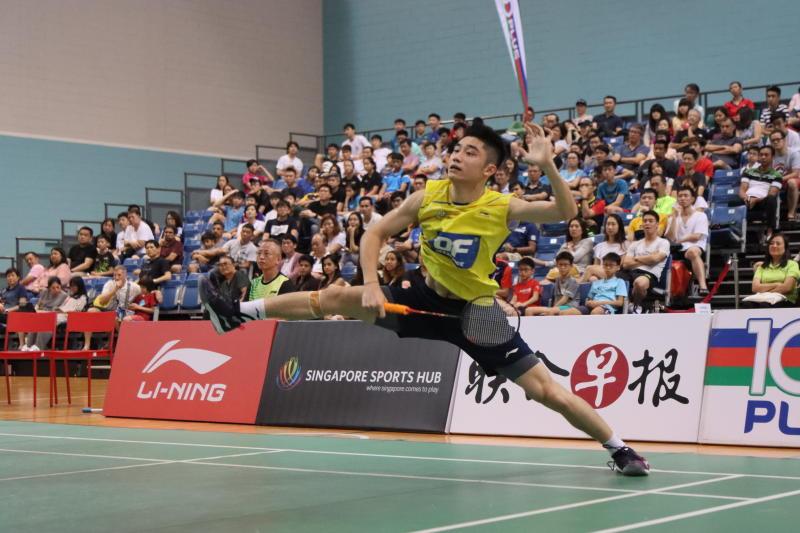 Singapore National Open men's singles champion Jason Teh in action. (PHOTO: Singapore Badminton Association)