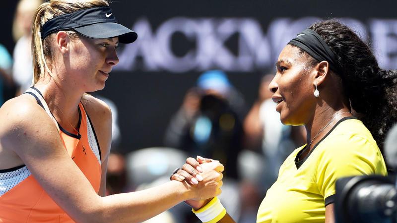 Maria Sharapova and Serena Williams, pictured here at the 2016 Australian Open.