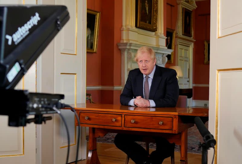 Britain's Prime Minister Boris Johnson's address to the nation from No 10 Downing Street
