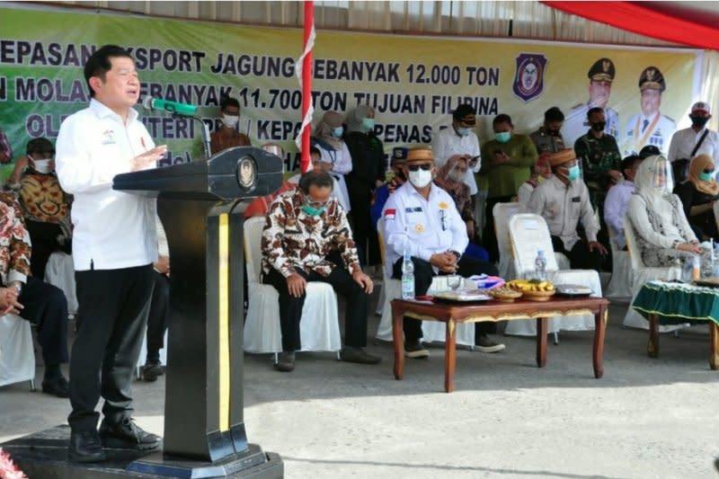 Menteri PPN/Bappenas lepas ekspor jagung Gorontalo ke Filipina