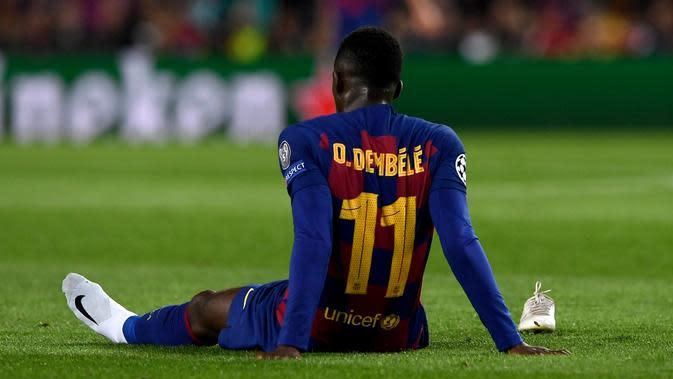 Winger Barcelona, Ousmane Dembele. (AFP/Josep Lago)