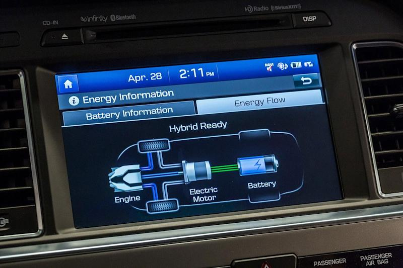 2016 Hyundai Sonata Plug in Hybrid console screen 5