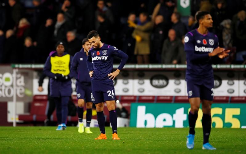 West Ham woes continue with 3-0 loss at Burnley