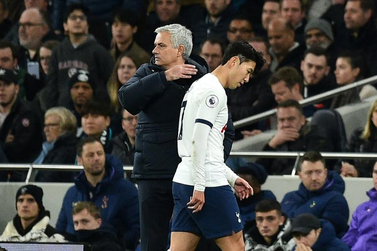Tottenham Hotspur are hanging on for dear life to salvage something from their season with Korean star Son Heung min the latest player to be seriously injured said manager Jose Mourinho