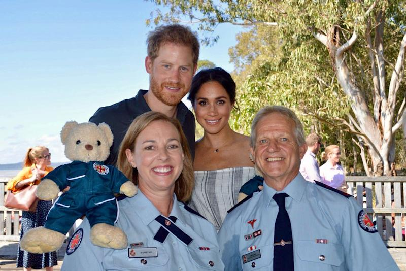 Royals in Fraser Island: Meghan Markle and Prince Harry commend Queensland ambulance members.